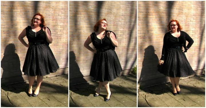 Collage refashion 80's jurk after