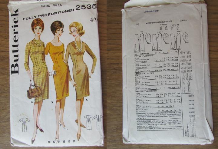 LeesVoer Vintage Patronen butterick 2535 60s