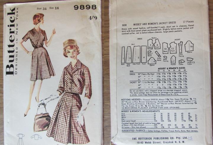LeesVoer Vintage Patronen butterick 9898 1961