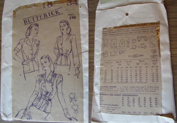 LeesVoer vintage patroon Butterick 3355