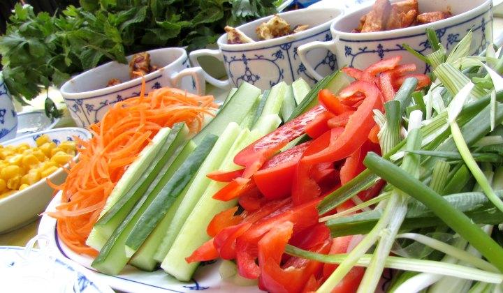 LeesVoer salade loempia's ingredienten