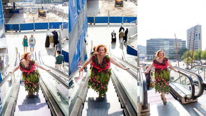 Gishwhes bloemenjurk collage