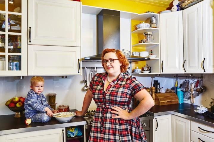 fotoshoot huisvrouw keuken