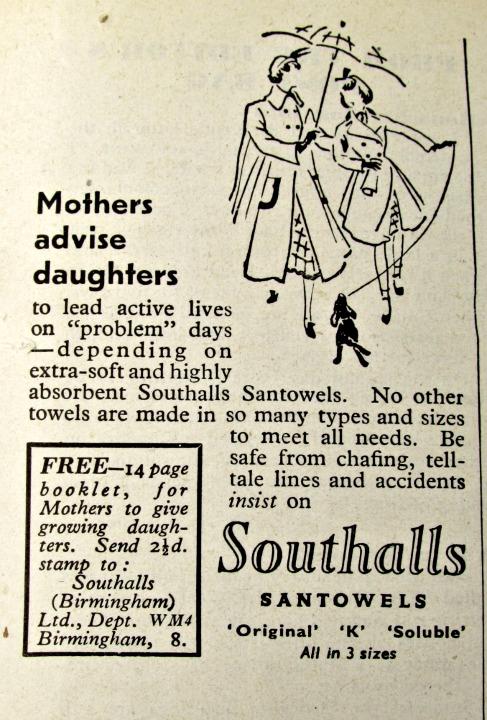 vintage reclames maandverband