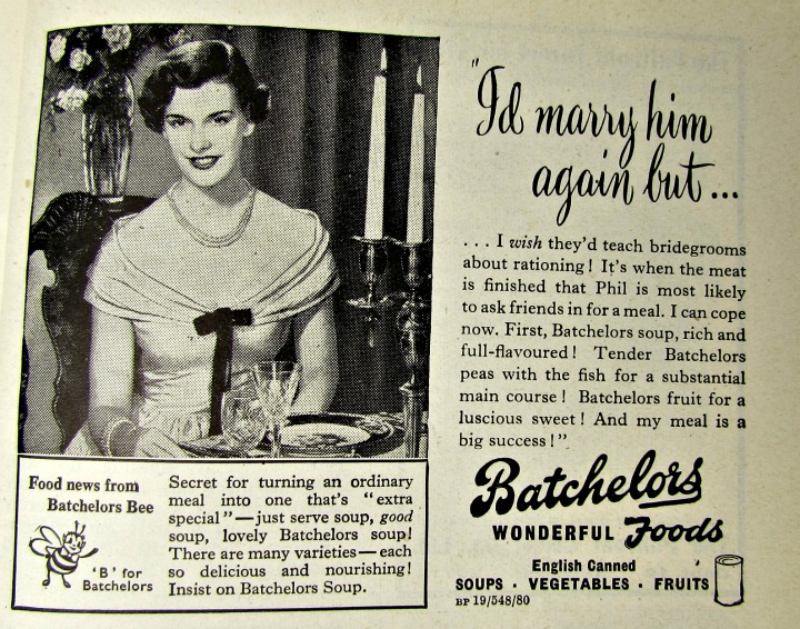 vintage reclames soep in blik