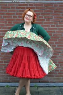 refashion rok van tafelkleed petticoat waait op