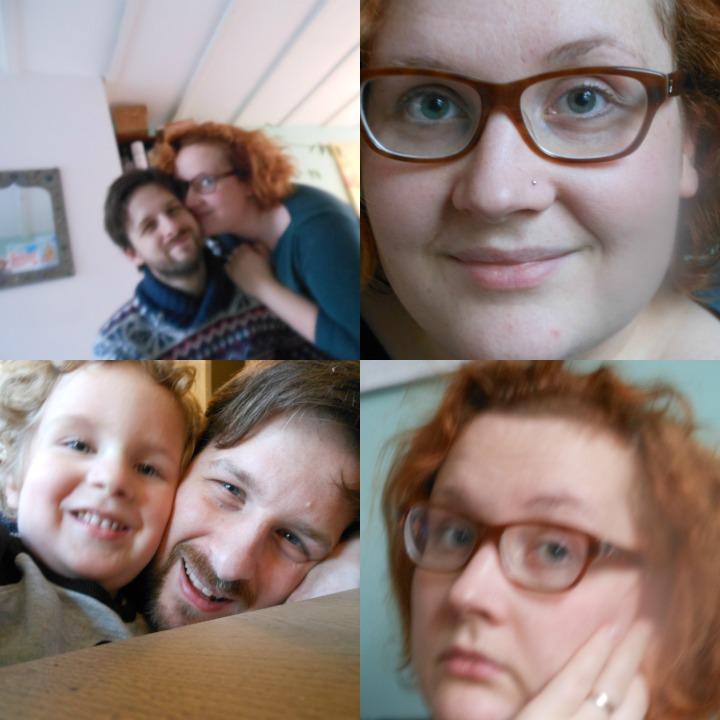 Papa en mama kleuter fotograaf