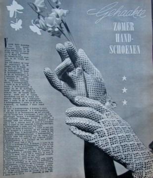 gratis vintage haakpatroon handschoenen 1 leesvoer vintage handschoenen