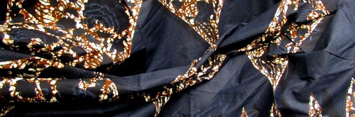 afrikaanse stoffen Gambia donkerblauw