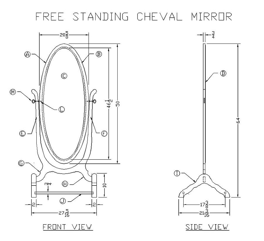 woodworking plans mirror