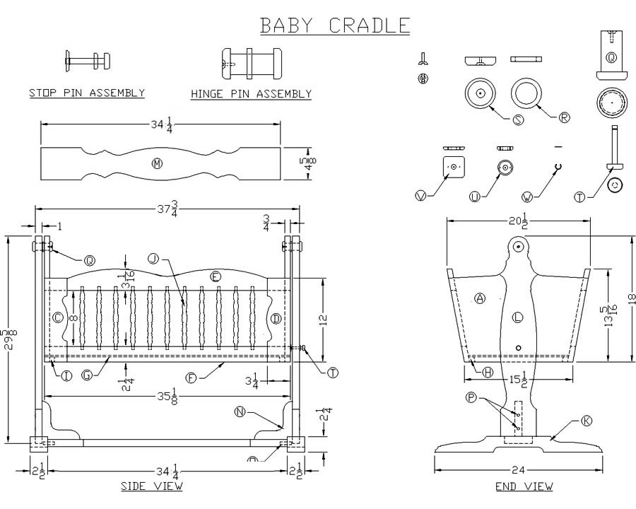 woodworking cradle plans