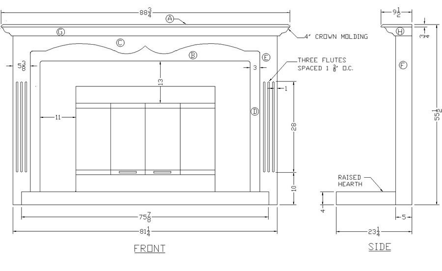 plans for building fireplace mantle