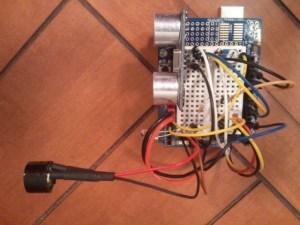 Ultrasonic HCSR04 dog antipoop sketchproject
