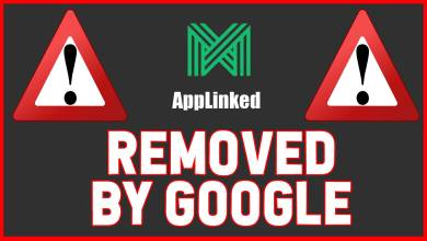 Applinked Warning - Removed from Google