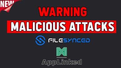 Filelinked alternatives warning - malicious attacks