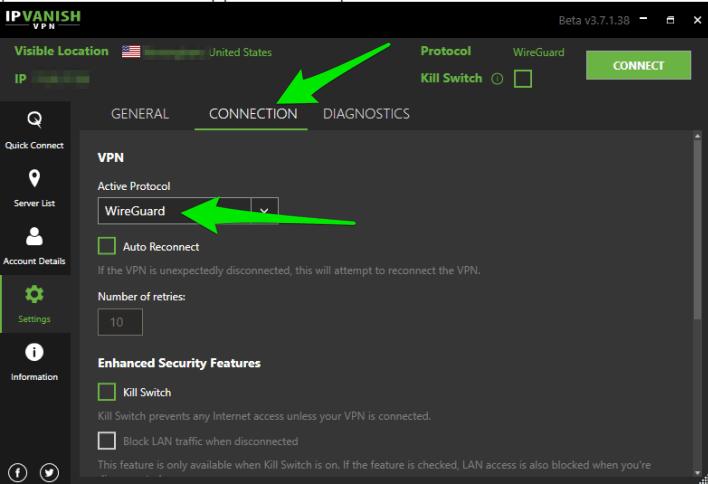 New IPVanish Wireguard