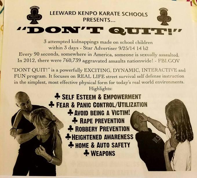 Don't Quit seminar flyer.