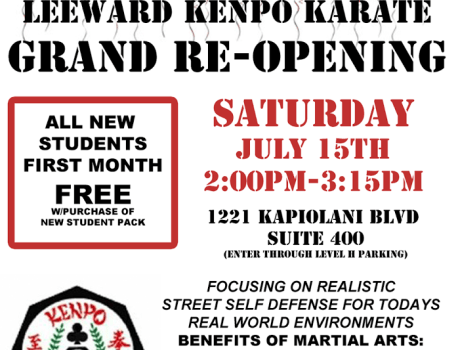 Leeward Kenpo Town Grand Re-Opening