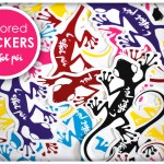 Colored Stickers Lézard