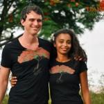 Couple - T-shirt homme et femme Flamboyant - L'effet Péi Réunion