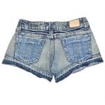 Short en jeans brodé - fesses - L'effet Péi