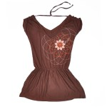 Robe / Tunique Eglantine - collection fruit de la passion - Marron