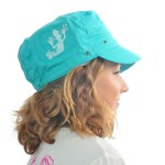 fille - casquette amazone bleu