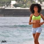 Short bleu et bikini sport - L'effet Péi Réunion Island