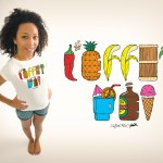 T-shirt Mix Fun L'effet Péi - Réunion Island