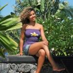 Top femme - Fleur de Frangipanier - L'effet Péi Réunion Island