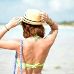 Bikini tressé vert - au Mexique avec le blog 100 pour 100 soie