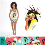 Top kimi - T-shirt fino - Peinture femme