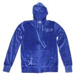 Veste velours -Bleu