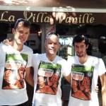 François d'Haene, Le gérant de la Villa Vanille et Kilian Jornet - T-shirt Le Grand Raid c'est que pour les Super-Héros