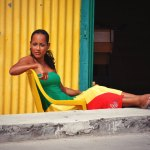 Robe longue Kyo - Vert Jaune Rouge - Boutik La Réunion
