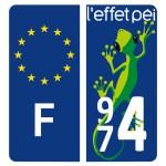 Stickers 974 - Plaque d'immatriculation - Big Margouillat
