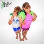 Ensemble maillot de bain Lycra enfant - Garçon Fille Peluche margouillat