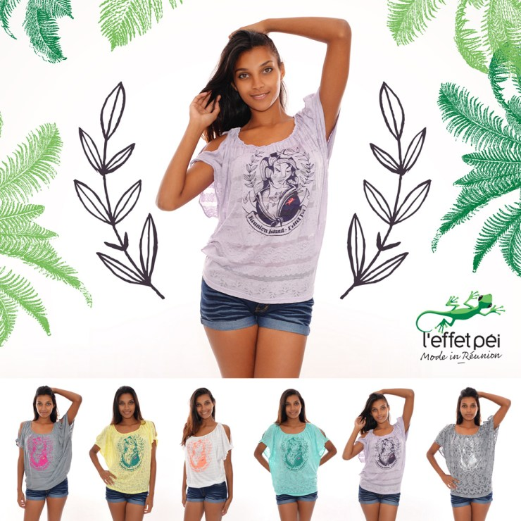 T-shirt Dalida - Réunion Island - Femme Marin