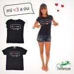 Mi aim a ou ! T-shirt Collector Femme et Homme - Saint-Valentin