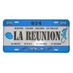 City Plak - La Réunion 974 - plaque île de la Réunion