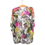 Ponchon Kimono Femme - Fleurs - Mode in Réunion