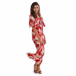 Robe rouge Azalée - Ambre Nguyen Miss Réunion