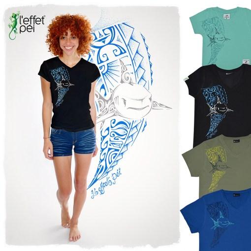 T-shirt Requin Tawane - Tattoo