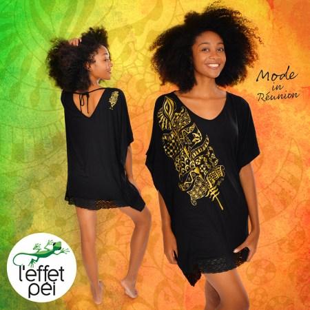 Tunique femme Bye Bye - Plume dorée