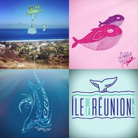 Visuels Tee-shirt Baleines Île de la Réunion