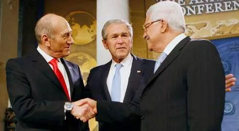 Bush a défini Israël comme «la patrie du peuple juif», prenant position contre le droit au retour des réfugiés palestiniens.