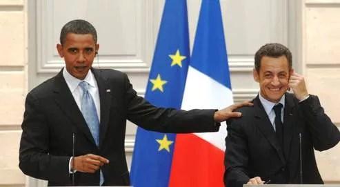 «Nous avons une grande convergence de vues», a déclaré Nicolas Sarkozy à propos de Barack Obama, vendredi à l'Élysée, lors de leur conférence de presse commune (photo Jean-Jacques Ceccarini / Le Figaro).