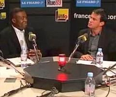 Patrick Lozès et Manuel Valls, sur le plateau de Parlons Net.