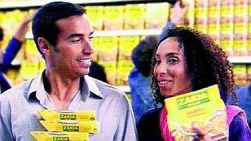 Capture d'écran d'un spot télévisé pour les produits halal «Zakia». C'est la première marque à s'offir de la publicité sur les chaînes généralistes. (Photo DR)