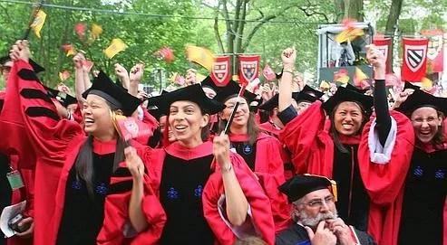 Des �tudiants de la prestigieuse universit� de Harvard, premi�re du palmar�s de Shangha�.